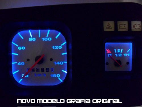 Indicadores Simbologia para Painel do Fusca modelo Itamar Cod570v160 (Pelicula)  - PAINEL SHOW TUNING - Personalização de Painéis de Carros e Motos