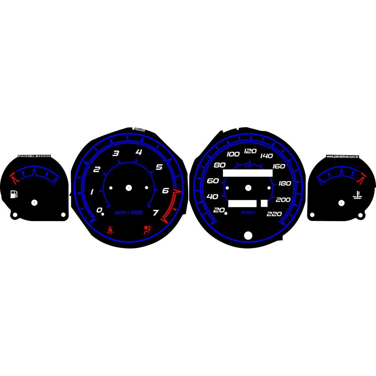 Kit Translúcido p/ Painel - Cod697v220 - Tigra Opel  - PAINEL SHOW TUNING - Personalização de Painéis de Carros e Motos