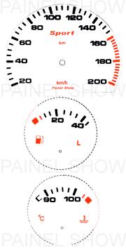 Kit Neon p/ Painel - Cod46v200v1 - Corsa até 2003  - PAINEL SHOW TUNING - Personalização de Painéis de Carros e Motos
