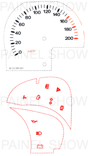 X Kit Neon p/ Painel - Cod48v200 - Celta até 2006  - PAINEL SHOW TUNING - Personalização de Painéis de Carros e Motos