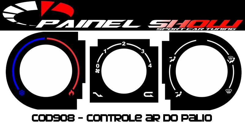 Acetato de Controle de Ar Ventilação - Palio Siena G2 - cod908  - PAINEL SHOW TUNING - Personalização de Painéis de Carros e Motos