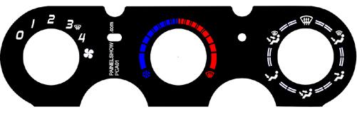 Acetato de Controle de Ar Ventilação Pelicula - Fiesta G2 Ecosport - cod909  - PAINEL SHOW TUNING - Personalização de Painéis de Carros e Motos