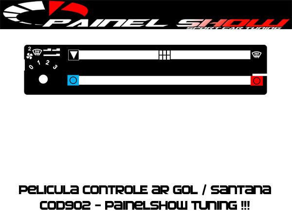 Acetato de Controle de Ar Ventilação Pelicula - Gol Parati Saveiro Santana Voyage - Cod903 - Translucido Painelshow  - PAINEL SHOW TUNING - Personalização de Painéis de Carros e Motos