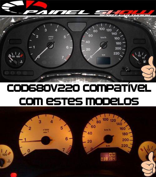 Acetato Translúcido p/ Painel - Cod680v220 - Astra ou Zafira até 2002   - PAINEL SHOW TUNING - Personalização de Painéis de Carros e Motos