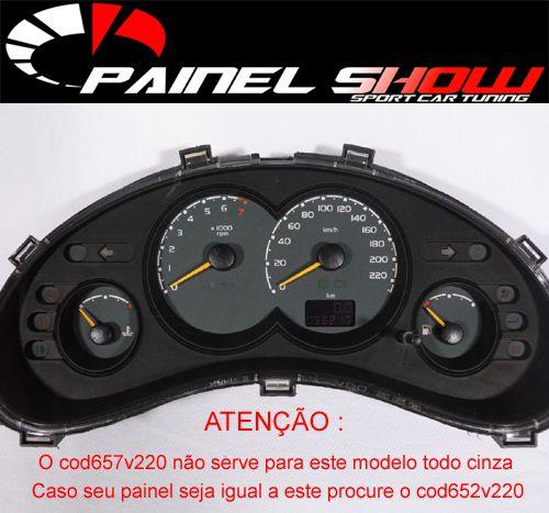 Corsa Classic Sedan 220km/h 2008 ed Cod657v220 Mostrador Tuning Acetato Translucido p/ Personalização de Painel - Show !  - PAINEL SHOW TUNING - Personalização de Painéis de Carros e Motos