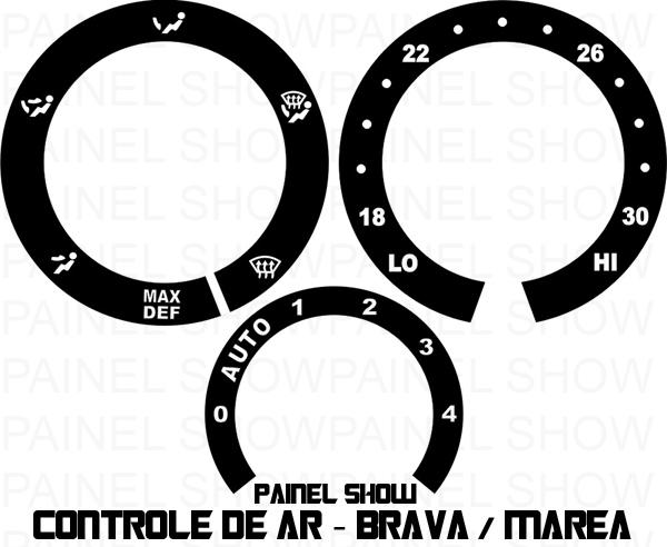 Acetato de Controle de ArVentilação - Brava Marea  - PAINEL SHOW TUNING - Personalização de Painéis de Carros e Motos
