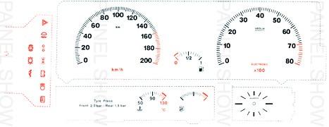 X Kit Neon p/ Painel - Cod103v200 -Tipo 1.6  - PAINEL SHOW TUNING - Personalização de Painéis de Carros e Motos