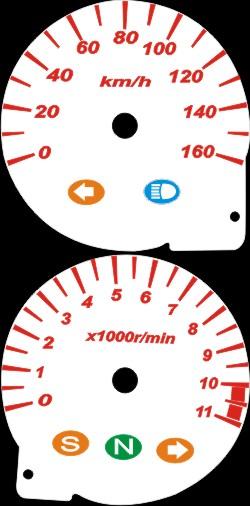 Kit Translucido Acrilico p/ Painel - Cod414v160 - TWISTER  - PAINEL SHOW TUNING - Personalização de Painéis de Carros e Motos