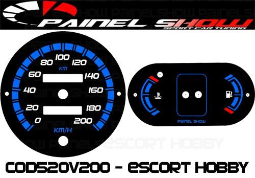 Kit Translucido P/ Painel - Cod520v200 - Escort Hobby   - PAINEL SHOW TUNING - Personalização de Painéis de Carros e Motos
