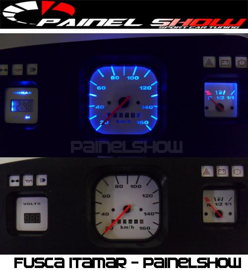Relogio de Horas Digital Personalizado para Painel do Fusca Itamar Cod570v160  - PAINEL SHOW TUNING - Personalização de Painéis de Carros e Motos