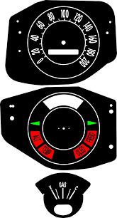 Kit Translúcido p/ Painel - Cod587v200 - Maverick Fase 2  - PAINEL SHOW TUNING - Personalização de Painéis de Carros e Motos