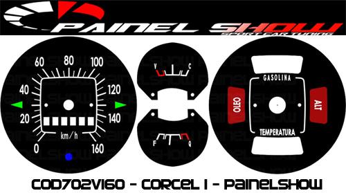 Kit Acrilico Translucido p/ Painel - Cod702v160 - Corcel 1  - PAINEL SHOW TUNING - Personalização de Painéis de Carros e Motos