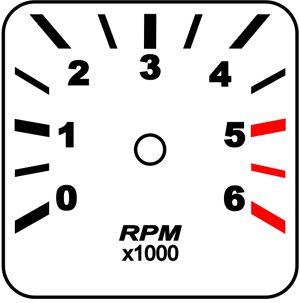 Contagiros Fusca modelo 6000 RPM - Placa do Mostrador Translucido p/ Cod570v160   - PAINEL SHOW TUNING - Personalização de Painéis de Carros e Motos