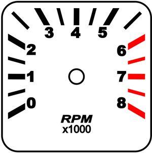 Contagiros Fusca modelo 8000 RPM - Placa do Mostrador Translucido p/ Cod570v160   - PAINEL SHOW TUNING - Personalização de Painéis de Carros e Motos