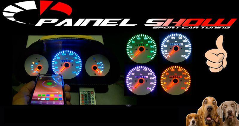 Controlador de Cores para Painel Show Translucido Multicor rgb via Bluetooth Top + Controle 24 Teclas  - PAINEL SHOW TUNING - Personalização de Painéis de Carros e Motos