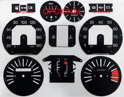 Kit Translúcido p/ Painel - Cod581v180 - Fiat 147 Rallye com Opcionais  - PAINEL SHOW TUNING - Personalização de Painéis de Carros e Motos