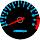 Cor 133 Fundo Preto - Nº Azul - Detalhe Vermelho