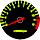 Cor 155 Fundo Preto - Nº Amarelo - Detalhe Vermelho