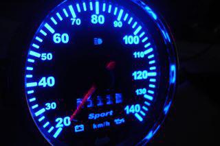 Fusca até 140km/h - Cod568v140 Kit Translúcido p/ Painel - Acrilico + Led  - PAINEL SHOW TUNING - Personalização de Painéis de Carros e Motos
