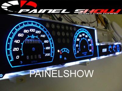Kit Acrilico Translucido p/ Painel - Cod663v200 - Tipo 1.6 IE + Leds + Tinta de Ponteiros - Painelshow  - PAINEL SHOW TUNING - Personalização de Painéis de Carros e Motos