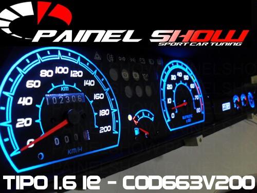 Kit Acrilico Translucido p/ Painel - Cod676v220 - Tipo 2.0 SLX + Leds + Tinta de Ponteiros Painelshow  - PAINEL SHOW TUNING - Personalização de Painéis de Carros e Motos
