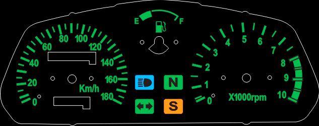 Kit Translúcido p/ Painel - Cod417v180 - Falcon NX4 400  - PAINEL SHOW TUNING - Personalização de Painéis de Carros e Motos