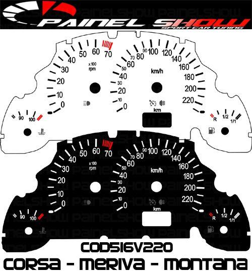 Kit Translúcido p/ Painel - Cod516v220 - Corsa - Meriva - Montana  - PAINEL SHOW TUNING - Personalização de Painéis de Carros e Motos