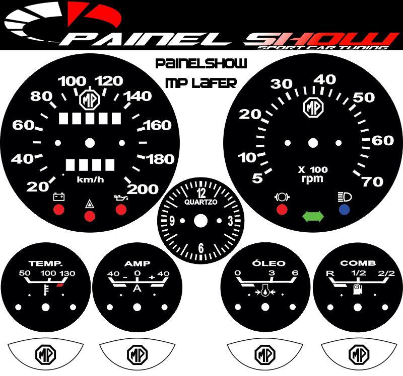 Kit Translúcido p/ Painel - Cod596v200 - MP Lafer  - PAINEL SHOW TUNING - Personalização de Painéis de Carros e Motos