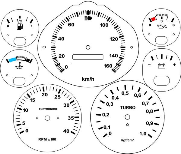 Kit Translúcido p/ Painel - Cod659v160 - F1000 F4000 Turbo  - PAINEL SHOW TUNING - Personalização de Painéis de Carros e Motos
