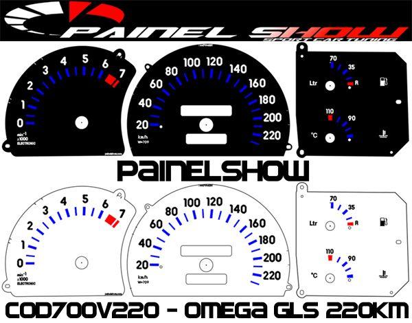 Kit Translúcido p/ Painel - Cod700v220 - Omega GLS 220Km  - PAINEL SHOW TUNING - Personalização de Painéis de Carros e Motos