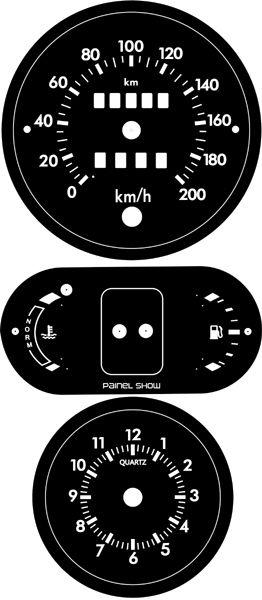 Kit Translucido p/ Painel - Cod705v200 - Escort Verona Apollo Kit Translucido P/ Painel 705v200  - PAINEL SHOW TUNING - Personalização de Painéis de Carros e Motos