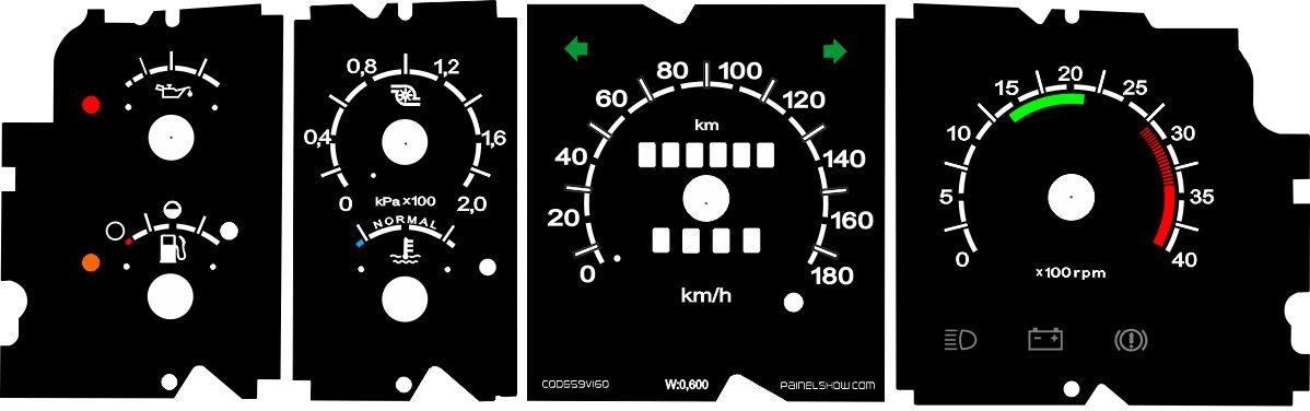 Kit Translúcido p/ Painel - Cod711v180 - F1000 F4000 Turbo Quadrado  - PAINEL SHOW TUNING - Personalização de Painéis de Carros e Motos