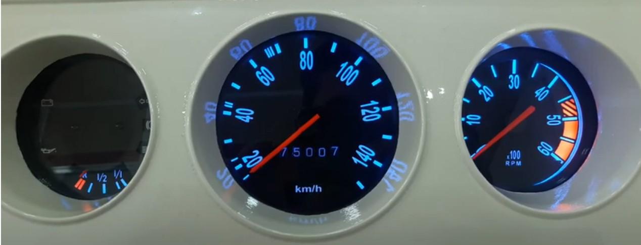 Kit Translúcido p/ Painel - Kombi Clipper Perua + Mostrador de Contagiros  - PAINEL SHOW TUNING - Personalização de Painéis de Carros e Motos