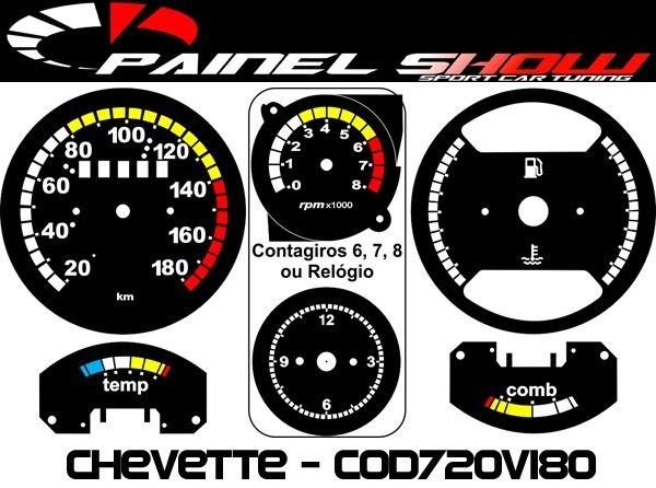 Kit Translucido Painel Show - Cod720v180 Chevette Top   - PAINEL SHOW TUNING - Personalização de Painéis de Carros e Motos