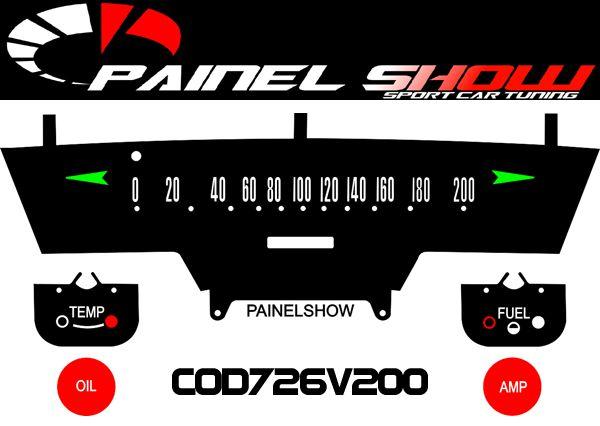 Kit Translucido para Painel de F100 Carro Caminhonete Antiga - Cod726v200  - PAINEL SHOW TUNING - Personalização de Painéis de Carros e Motos
