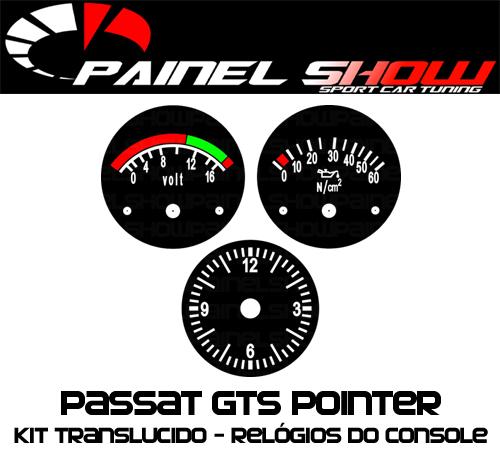 Placas Translúcida p/ Manômetro do Console Passat 52mm - Voltímetro Relógio e Pressão de Óleo  - PAINEL SHOW TUNING - Personalização de Painéis de Carros e Motos