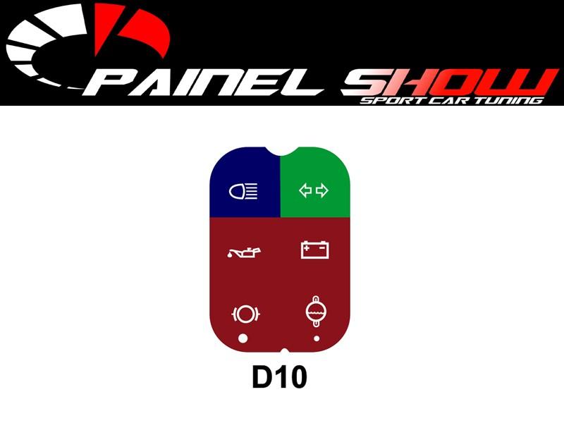 Simbologia do Painel da D10 Pelicula dos Indicadores Luzes Espia Advertencia Translucido  - PAINEL SHOW TUNING - Personalização de Painéis de Carros e Motos