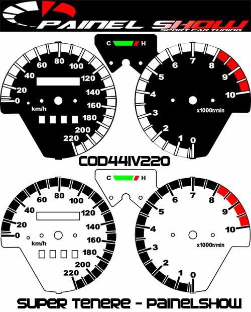 Super Tenere Cod441v220 Mostrador Translucido P/ Painel + Led  - PAINEL SHOW TUNING - Personalização de Painéis de Carros e Motos