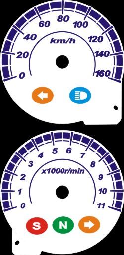 Kit Translucido Acrilico p/ Painel - Cod420v160 - TWISTER CBX250  - PAINEL SHOW TUNING - Personalização de Painéis de Carros e Motos