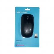 MOUSE SEM FIO MULTILASER MO285 2.4GHZ PRETO USB