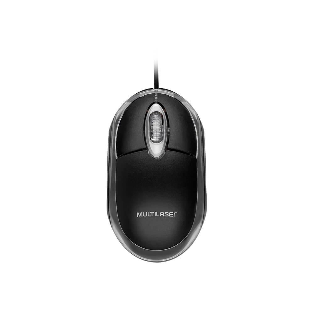 MOUSE OPT USB 1200DPI PRETO MO179 MULTILASER