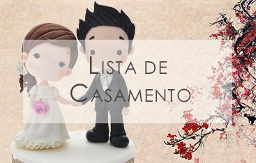 Monte aqui a sua lista especial de casamento!