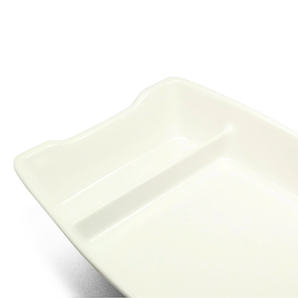 Barco Melamina Branco Kit c/ 10 pcs 26 x 12 cm - 400 ml