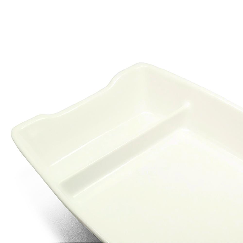 Barco Melamina Branco 26 x 12 cm - 400 ml