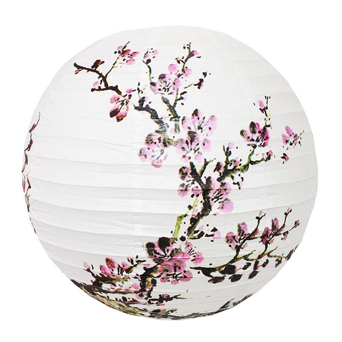 Luminária Oriental Cerejeira Rosa 40 cm