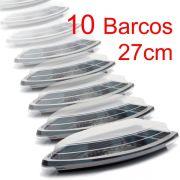 Barco Descartável c/tampa 27x15 cm 600 ml Kit c/ 10pc