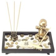 Jardim Zen, Incensário, Pequeno Monge 20,5 x 11,5 cm
