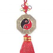 Amuleto Baguá Ying Yang c/ espelho 5 x 31 cm