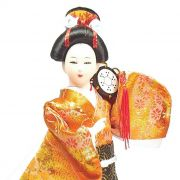 Boneca Gueixa Tambor Kimono Laranja