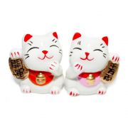Gato da Sorte Manekineko Casal 5,5 cm
